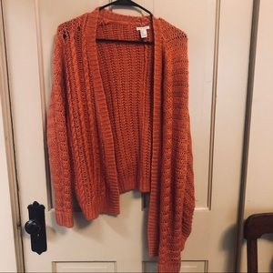 Forever 21 Knit pink cardigan